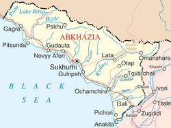 Engelskspråkig karta över Abchazien