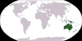 Oceanien i världen.
