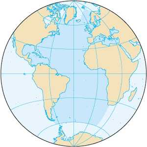 Karta över Atlanten