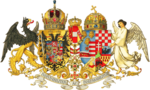 Österrike-Ungerns riksvapen, antaget 1915 för att betona rikets enhet under första världskriget