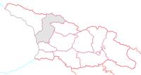Megrelien-Övre Svanetiens läge inom Georgien
