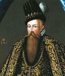 Kung Johan III av Sverige (av Johan Baptista van Uther år 1582) - kungen är här iklädd det senaste spanska hovmodet.