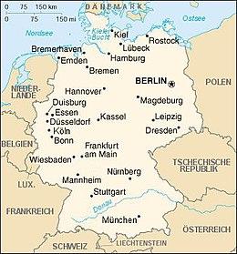 Förenklad karta över Tyskland