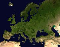 Europa utom Svalbard, Novaja Zemlja och Frans Josefs land