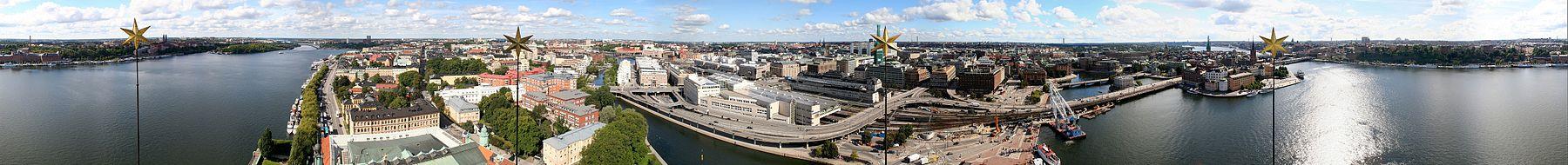 Panorama från stadshustornet