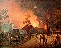 Köpenhamn med Rosenborg Slot i bakgrunden, natten mellan 4 och 5 september 1807, målet av C.W. Eckersberg.