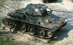 Polsk T-34 modell 1943 i Poznań, Polen