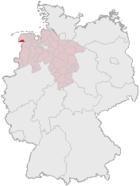 Emden i Tyskland (mörkröd)