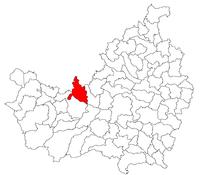 Location of Comuna Aghireşu