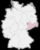 Leipzig i Tyskland (mörkröd)