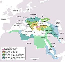 Osmanska rikets läge