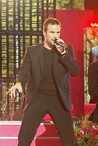 Martin Stenmarck sjunger på Sommarkrysset i Stockholm 2008. Foto: Daniel Åhs Karlsson