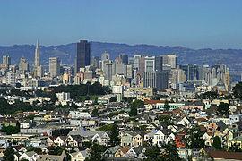 Stadsvy över San Francisco