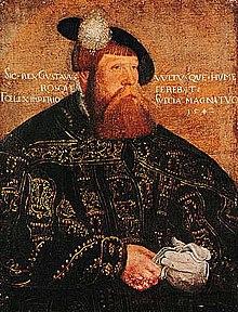 Kung Gustav I av Sverige (porträtt 1542 av Jacob Binck, sannolikt kopia från sent 1500-tal)