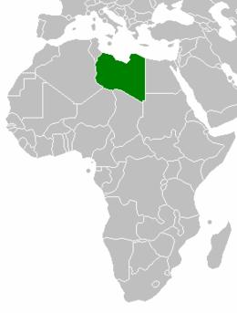 Libyens läge