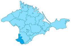Sevastopol kommuns läge på Krim.