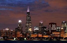 Chicagos skyline.