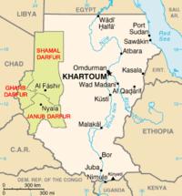 Karta över Darfur