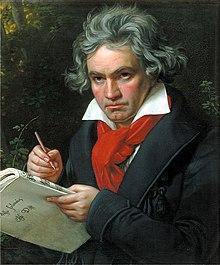 Ludwig van Beethoven, av Joseph Karl Stieler 1820.