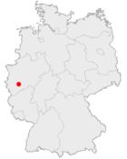 Tyskland med Köln markerat