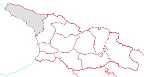 Den autonoma republikens läge i Georgien