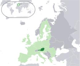 Österrikes läge