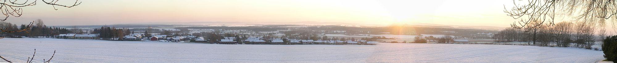 Panorama från Harlösa kyrka