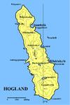 Karta över Hogland.