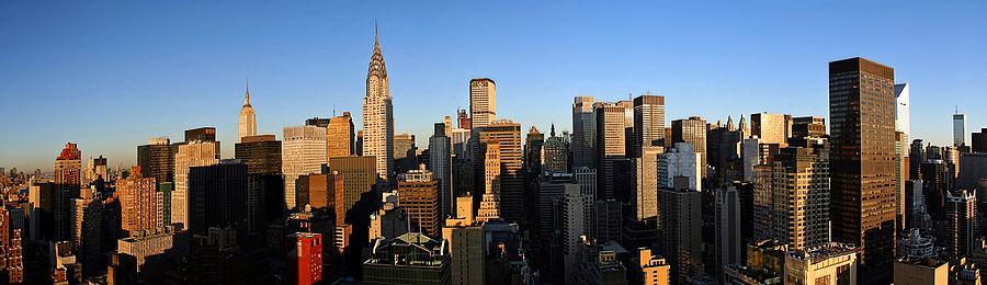 Panorama över Manhattan