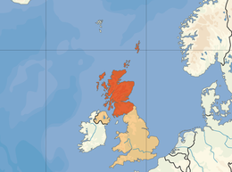 Skottlands läge