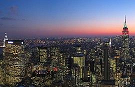New York Citys skyline.