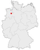 Tyskland med Wildeshausen markerat