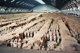 Terrakottaarmén i Xi'an.