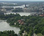 Diplomatstadens läge i Stockholm
