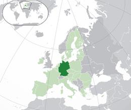 Tysklands läge