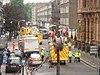 Bombdåden i London 2005: Polis och ambulanser vid Russel Square, en av de drabbade platserna i den brittiska huvudstaden.