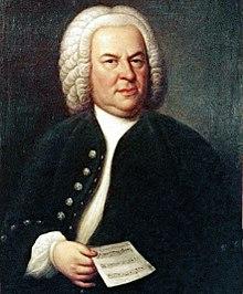 J.S. Bach i sextioårsåldern, porträtt av E.G. Haussmann 1748.