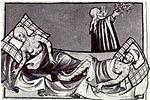 Illustration av digerdöden ur Bibeln.