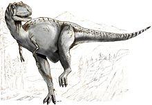 Rekonstruktion av Albertosaurus urförd av Tim Bekaert, 1995.