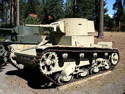 Finsk T-26:a vid Parolas stridsvagnsmuseum