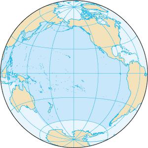 Karta över Stillahavsområdet.