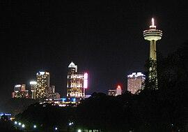 Niagara Falls skyline.