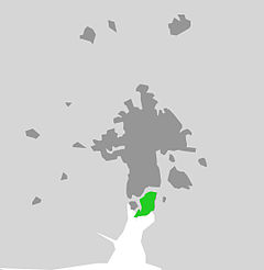 Sunnerstas läge i Uppsala