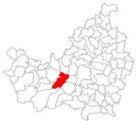 Location of Gilău