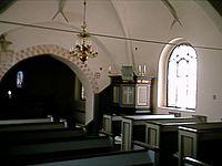 Interiör från Stora Råby kyrka.