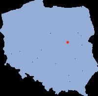 Warszawas läge i Polen