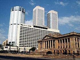 World Trade Centers två tvillingtorn och Bank of Ceylon