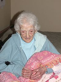 Edna Parker vid 114 års ålder år 2007.