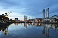 Puerto Madero i Buenos Aires.