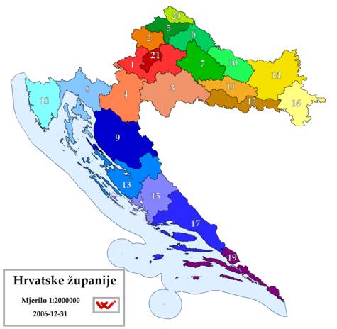 Kroatiens län.